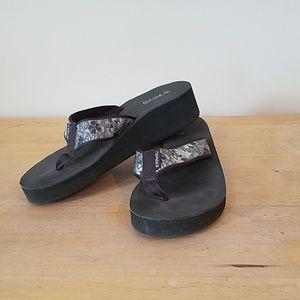 Teva Mandalyn wedge flip flops